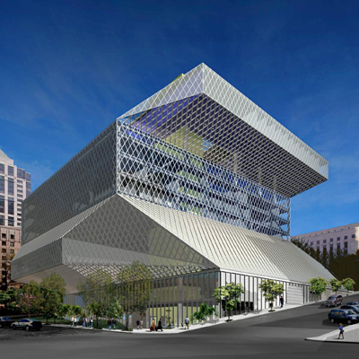 Seattle Public Library (Seattle, U.S.A. 1999-2004)©OMA
